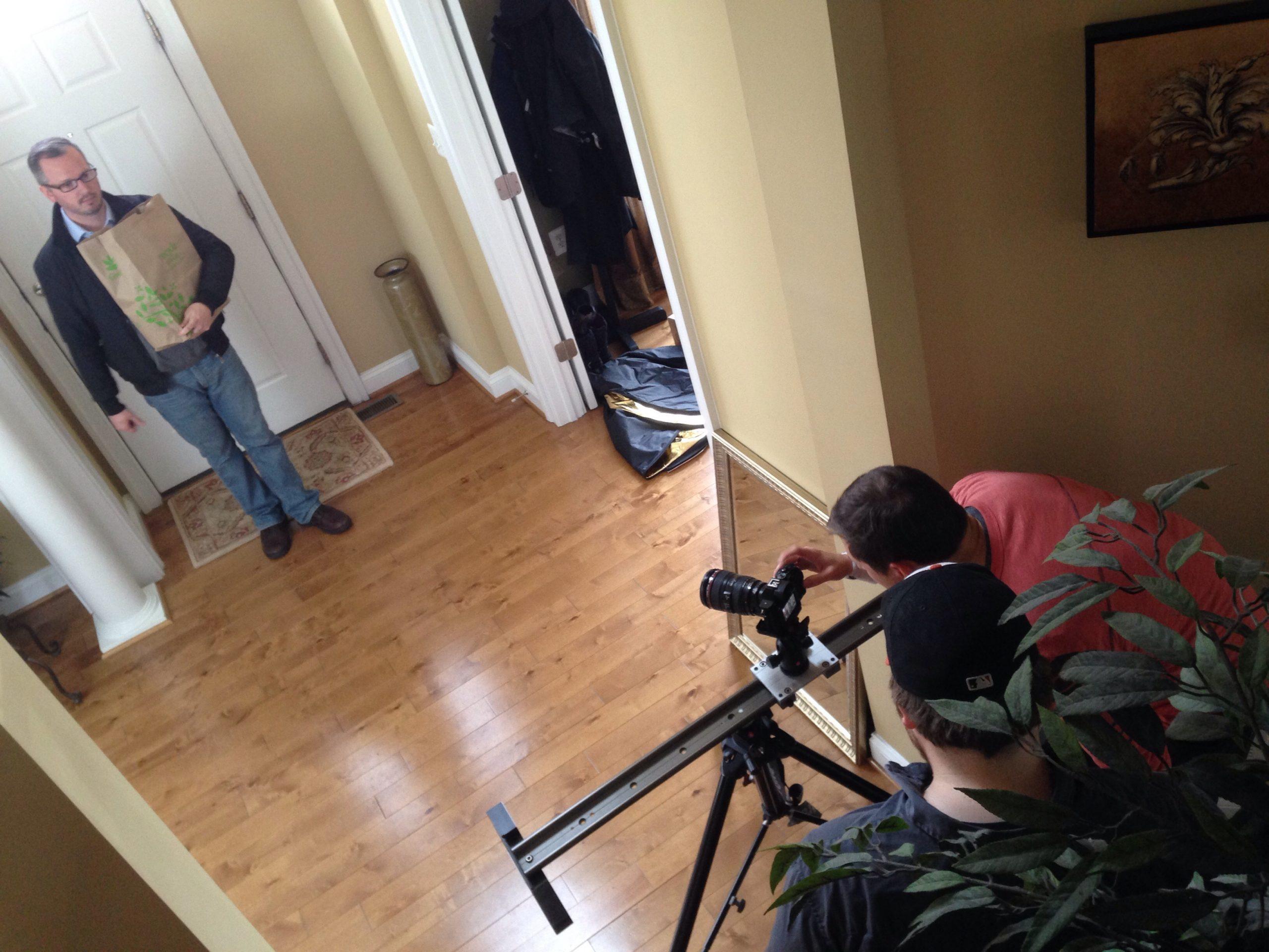 cameramen recording scenes for eyewear shoot