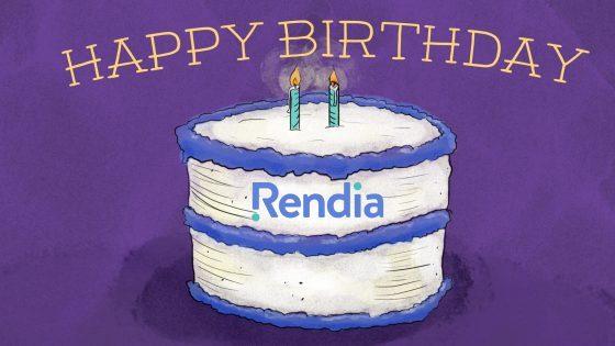 Happy Birthday to Rendia!