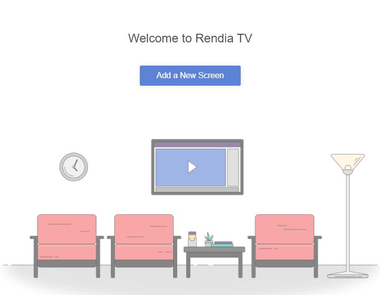 screenshot of Rendia TV app